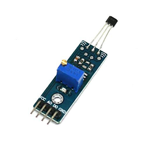 Range Arduino La Intensidad magnética Salida de detección del Sensor de Alta sensibilidad analógica 8.3mV / G Lineal Módulo Sensor Hall