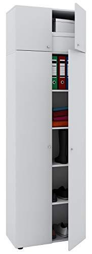 """VCM Schrank Universal Kleiderschrank Mehrzweckschrank Dielenschrank Weiß 218 x 70 x 40 cm """"Vandol"""" Auswahlmöglichkeiten"""