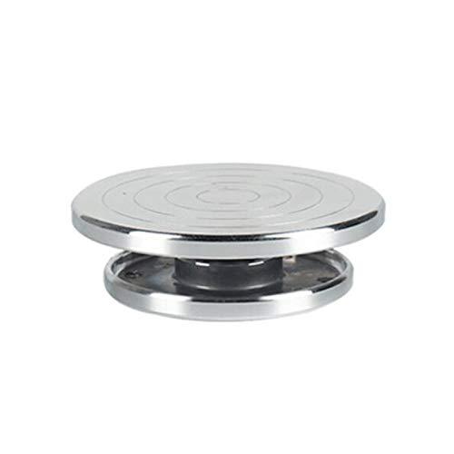 ZHHOOHAG Torno De Alfarero Doble Cara Use la Placa giratoria de la aleación de Aluminio Clay de cerámica Rueda de cerámica giratoria Torno Ceramica (Color : 15CMX12CM)