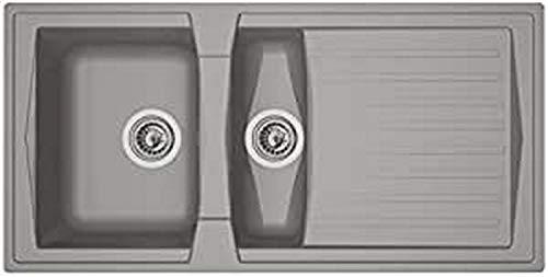 Preisvergleich Produktbild respekta BOSTON100X50G Spüle,  Betongrau,  100 x 50 cm