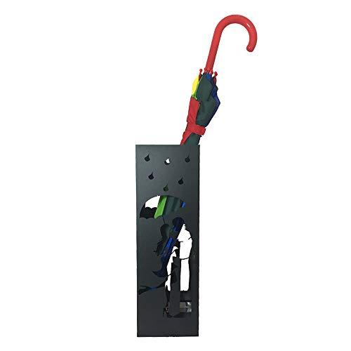 CAI & ZAI Porte-parapluies Love carré avec bac amovible. Dimensions 15 x 15 x 47 cm. Noir. Fabriqué en Italie. Design moderne. Convient pour une utilisation en intérieur et en extérieur.
