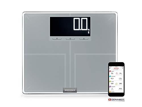 Soehnle Körperanalysewaage Shape Sense Connect 200 mit Bluetooth, digitale Personenwaage für Premium- (BIA), Körperwaage berechnet präzisen Kalorienbedarf