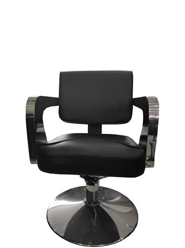 Cris nails - sillón giratoria 360º con base fijo y apoyapiés, altura regulable, uso profesional para peluquería, tienda de tatuaje, salón de Belleza, masajería (modelo C62)