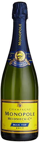 Monopole Heidsieck Blue Top Brut Champagner mit gelber Neoprenkühlmanschette (1 x 0,75 l) - 2