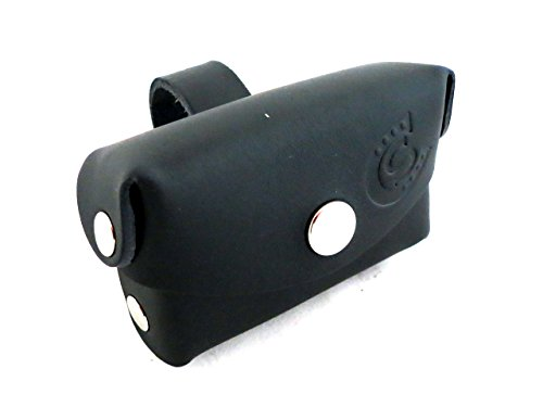 Porta telepass moto in cuoio Custom Style (nero)