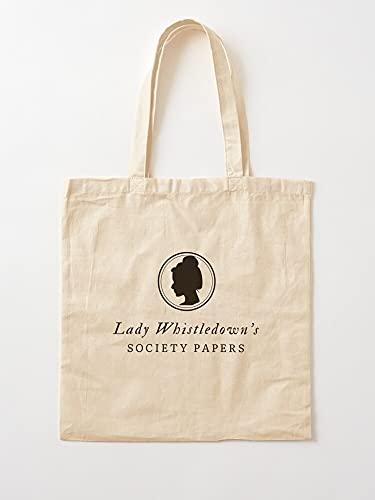 Bridgerton Lady Whistledown Daphne - Bolsas de lona con asas, de algodón duradero