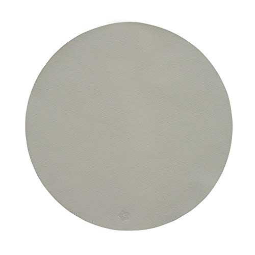 Pichler JAZZ Tischset Kunstleder abwischbar und waschbar rund 38cm beton (4 Stück)