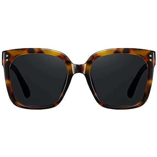 H HELMUT JUST Gafas de Sol Mujer Grandes Moda Con Montura Cuadrada Protección UV400
