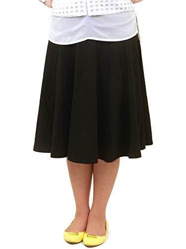 KIKI RIKI Flairy Knee Length Women's Panel Skirt Style 40615 XL Black