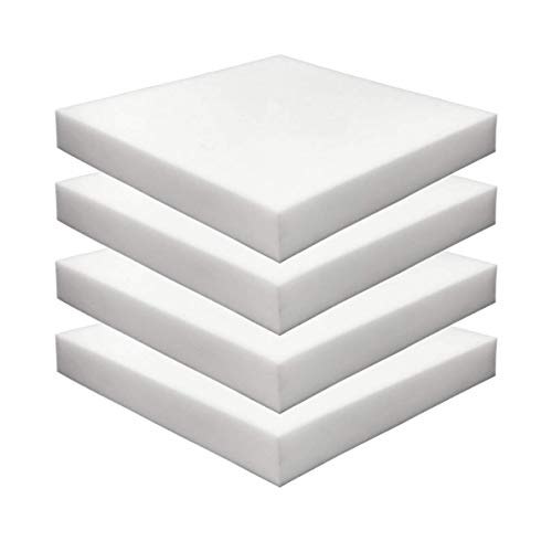 "FOAMMA (4-Pack) 2"" x 20"" x 20"" HD Upholstery Foam High Density Foam (Chair Cushion Square Foam for Dinning Chairs, Wheelchair Seat Cushion Replacement)"