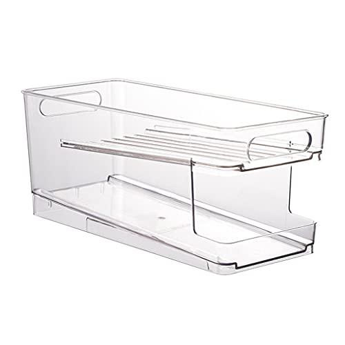 unkonw Organizador de despensa para refrigerador, almacenamiento de alimentos de plástico transparente para despensa, gabinete de cocina, organización y almacenamiento sin BPA