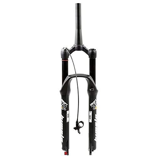 LLGHT Amortiguador Delantero De Bicicleta 26 27,5 Freno De Disco De 29 Pulgadas Viaje 130mm Horquilla De Suspensión De Ciclismo QR De 9 Mm Tubo Cónico Horquilla Neumática De 1-1/2