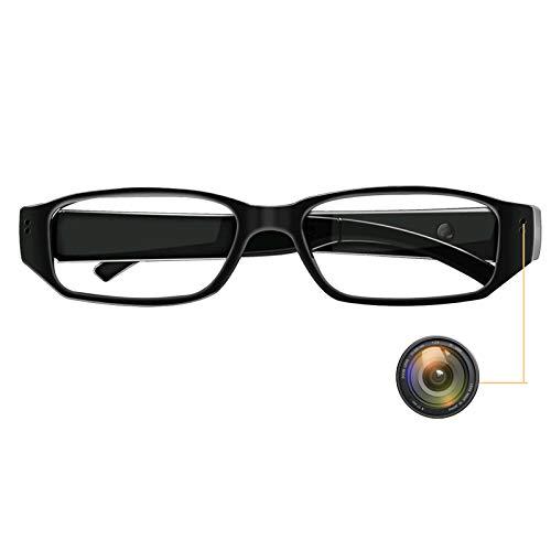 Monkaim Brille mit versteckter Kamera, 1080P HD, tragbar, Videorekorder, Videorekorder, Foto- und Audio-Aufnahmen für Innen und Außen