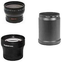 Wide + Tele Lens + DMW-LA8 Tube bundle for Panasonic DMC-FZ70, Panasonic DMC-FZ70K, Panasonic DMC-FZ72