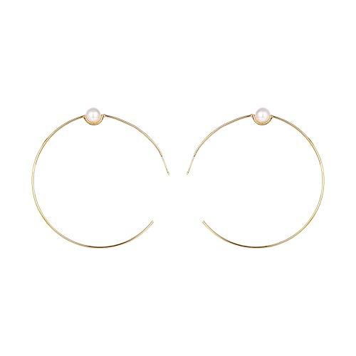 Pendientes de aro exagerados geométricos de aguja de plata 925 pendientes de moda de temperamento europeo y americano pendientes personalizados mujeres