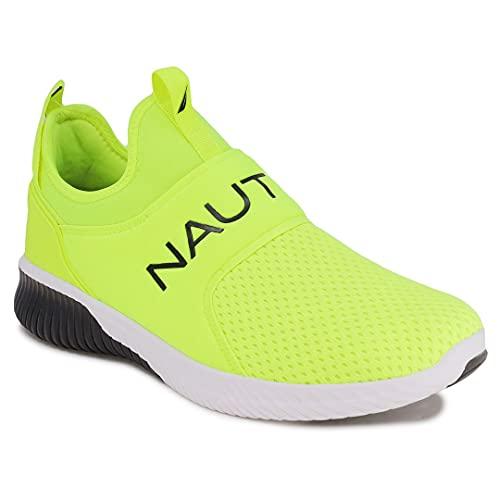 Nautica Men's Casual Fashion Sneakers-Walking Shoes-Lightweight Joggers-Coaster-Lime Black-8