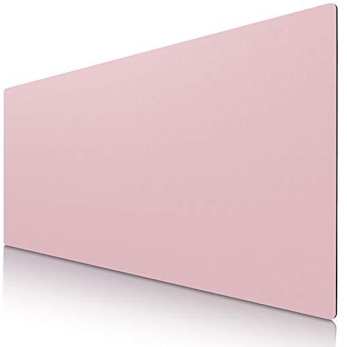 CSL Tischunterlage Schreibtischunterlage 90 x 40cm - Premium PU-Leder Schreibunterlage - zusätzliche Anti Rutsch Beschichtung - wasserdicht - auch als Mauspad - für Büro u Zuhause 900x400 mm Rosa