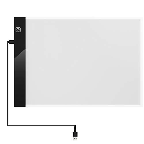 Luz-Transparente Tablero de Pintura Cómics Caja de Herramientas Bosquejo Luminoso Pintura Caligrafía Caligrafía Mesa de Dibujo Estudiante de Arte
