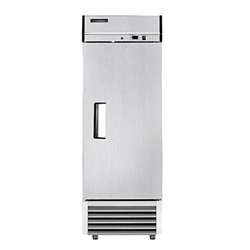 BLUELINETECH Reach-in Commercial Refrigerator 1 Door Stainless Steel Refrigerator with LED Lighting - 23 cu.ft for Restaurant Home, and Business