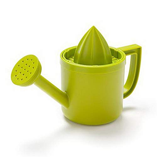 Multifunctional Manual Juicer Hand Squeezer Anti-Slip Lid Rotation Reamer Lime Press Portable Citrus Juicer Orange Lemon Manual (Color : Green, Size : 18X12X8CM)
