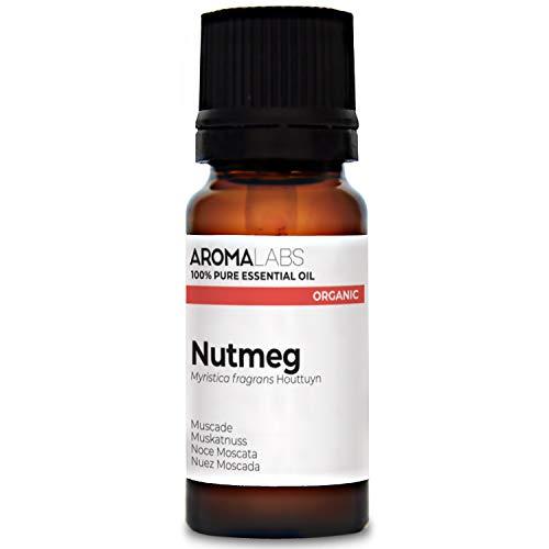 Aroma Labs Noce Moscata Bio - 10Ml - Olio Essenziale Bio E Naturale Al 100% - Qualità Verificata Mediante Cromatografia - Aroma Labs - 10 ml