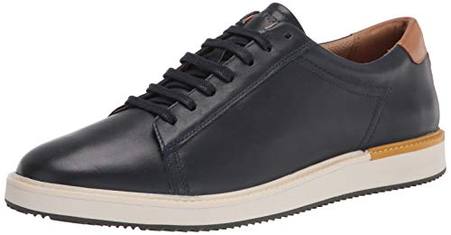 Hush Puppies Men's Heath Sneaker Oxford, Navy Leather, 13 W US