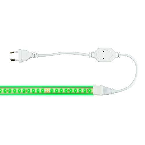 POPP® Tira LED Para Decoracion AC 220V SMD 2830 8W/m 650Lm/m 120LED /m 120° Angulo de luz IP65 Para jardin cocina oficina hogar etc.. 3000K 4000K 6500K Azul Rojo Verde Rosa Dorado RGB (Verde, 1)