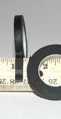 1/4 Tape 3 Pack Black Crepe Chart/Whiteboard Gridding Tape/Artist Tape/Model Hobby Tape/Dry Eraser Board Tape