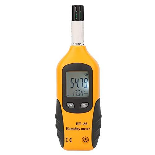Multifunktionales Digitales Thermometer, Temperatur und Luftfeuchtigkeit, Messbereich Temperaturmessung, Temperatur des Messgeräts Meter Thermo-Hygrometer Tragbar Temperatur LCD