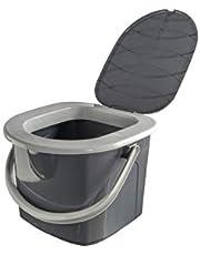 Branq toilet, 15,5 l, camping, toilet, emmer, buitentoilet, reizen