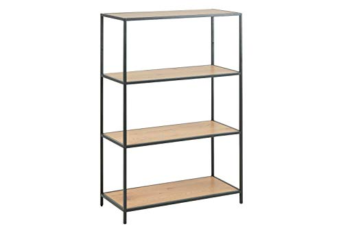 Bücherregal Seaford 75966 Wildeiche Nb. Metall Schwarz 2 Böden MDF Regal