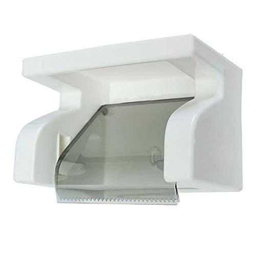 Tejido Tocador Plataforma Papel higiénico Titular - aseo papel resistente al agua sostenedor del tejido de la caja de laminación con el estante del estante de baño refinado y fuerte Durable y convenie