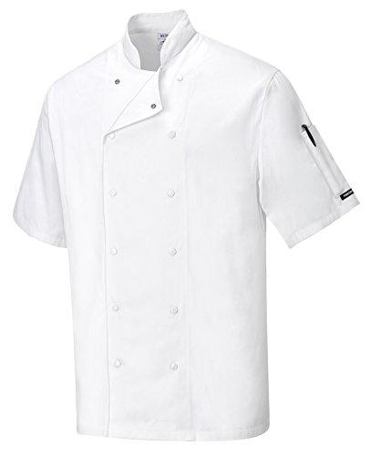 Portwest C774 Aberdeen Veste de cuisine, XXL, blanc