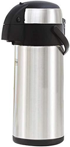 MJMJ thermos sottovuoto brocca isolante, pentola isolante, 3/4/5L azione pompa a doppia parete isolata e leggera bevanda calda fredda perfetta per caffettiera tè (dimensioni: 17 x 44 cm)