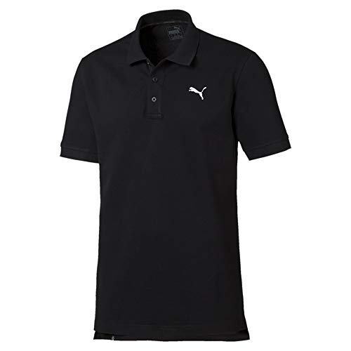 Puma Herren Ess Pique Polo Shirt - schwarz (Cotton Black) , S