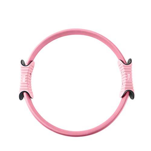 YULAN Pilates Anillo Muscular del Suelo pélvico Postparto Rehabilitación aparatos de Ejercicios de Yoga del Anillo del círculo mágico Espalda Abierta de Tubo de Estufa Yoga Círculo (Color : Pink)