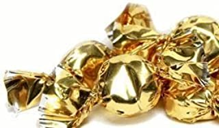 Gold Hard Candy Wrapped in Gold Foil - Mint Flavor 2.5 Pounds