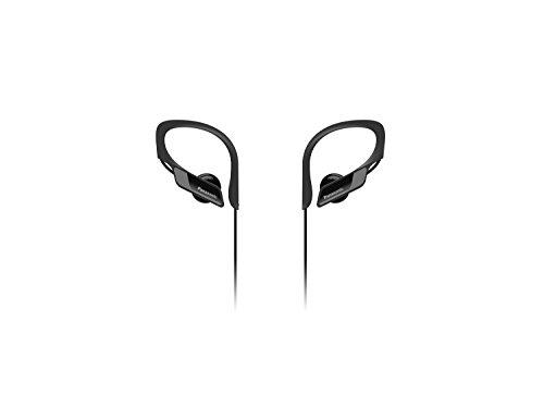 Panasonic Bluetooth In-Ear Kopfhörer RP-BTS10E-K in schwarz (wasserabweisend, Schnellladefunktion, flexible Ohrbügel, Mikrofon)