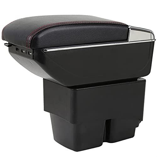SXYY Caja De Reposabrazos para Ford Fiesta MK6 7 Reposabrazos Caja Reposabrazos En Caja De Almacenamiento De Coche para Fiesta Cuero PU Autopartes
