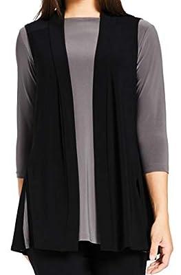 Sympli Womens Go to Vest Short Size 10 Black by