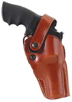 GALCO - Dual Action Outdoorsman Strongside/Crossdraw Belt Holster for Smith & Wesson, Colt, Ruger, Taurus, L FR 686 4-Inch, Right Hand (Tan) (DAO104)