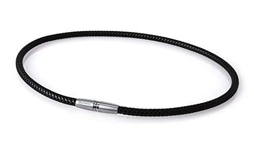 Phiten Aqua Titan X50High End III Moda Deluxe Halskette, schwarz, 51 cm