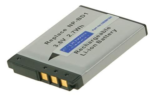 2-Power 750mAh Li-Ion (3,7V) Kamera Ersetzt Akku für NP-BD1