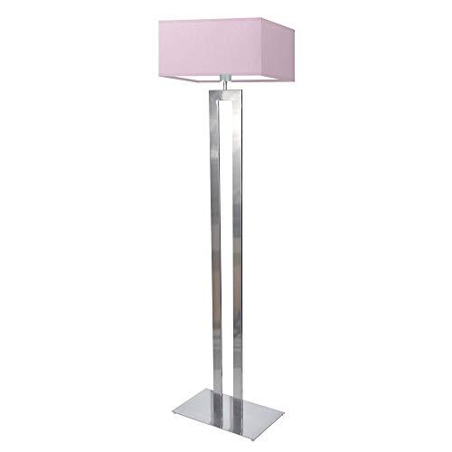 Lámpara de pie TORONTO pantalla morado claro marco plata