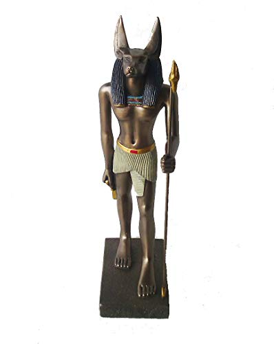 Estatueta Egípcia Chacal Estátua Imagem Decoração