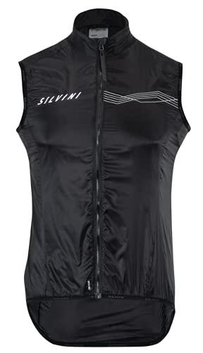 SILVINI TENNO Gilet de cyclisme ultra léger pour homme Gilet de course pour homme Gilet d'été sans manches XL Noir
