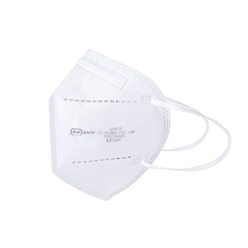 Atemschutzmaske FFP2 Mundschutz Maske perfekt für Mund- und Nasenschutz Schutzmaske 4-lagig CE Zertifiziert (1x 10 Stück) - 3