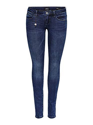 ONLY Damen Jeans Hose Coral SL DNM GUA 12919 NOOS Superlow Denim (W31/L30)