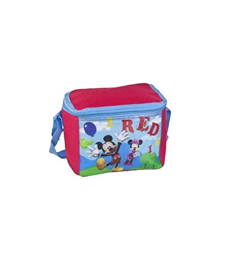 Takestop - Bolsa térmica Mickey Mouse Mickey Mouse 21 x 18 x 16 cm nevera bolso porta alimentos comida almuerzo playa senderismo térmico picnic plegable color aleatorio