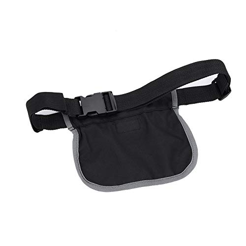 Pochette de Rangement - Sac de Taille, Oxford Canvas Durable Ball Storage Waist Bag Black (2 Tailles)(S)